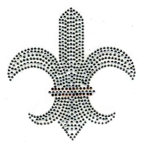 Large Fleur De Lis with Gold Band (S1581)