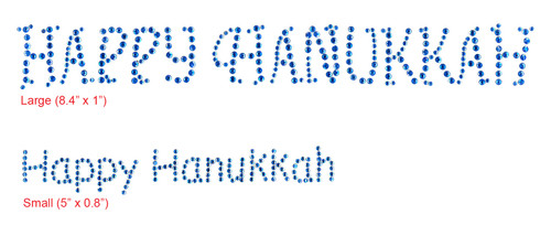 Happy Hanukkah Iron-On Designs; Large (S6258L) shown above; and Small (S6258S) shown below. Each sold separately.