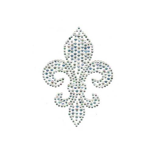 Medium Crystal Fleur De Lis (S1764MB)