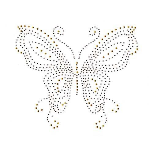 Topaz Gold Single Butterfly Iron On Design