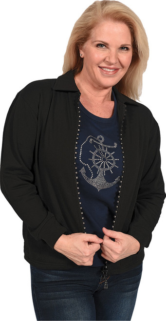 SW1003 Black shown, worn over 7003 Navy embellished with S1965LA-CLR (each sold separately).