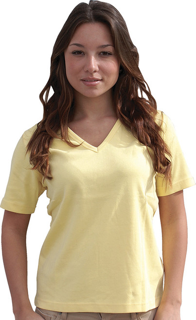 Short-Sleeve V-Neck Top Plain
