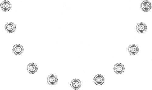 Silver Donuts & Crystal Scoop Neckline.