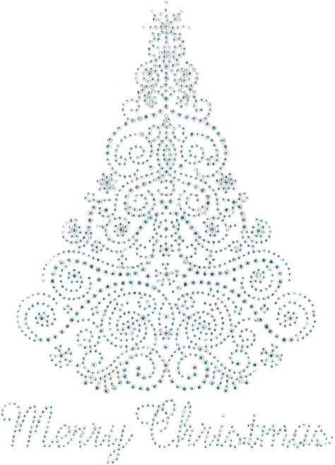 "Swirls & Snowflakes ""Merry Christmas"" Tree."