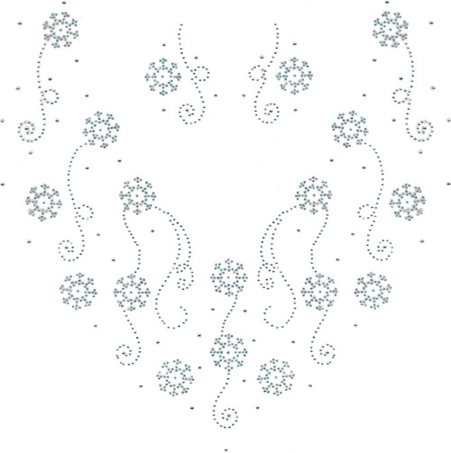 Snowflakes & Swirls V-Neckline & Collar Add-Ons