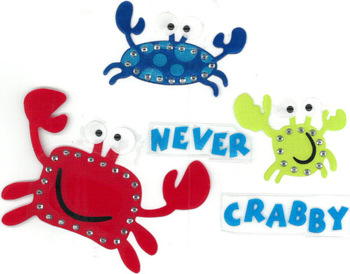 """Never Crabby"" Happy Crabs Trio."