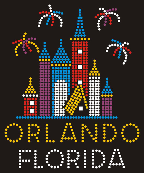 Castle & Fireworks - Orlando, FL (Gold & Silver).