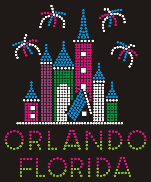 Castle & Fireworks - Orlando, FL (Pink & Peridot).