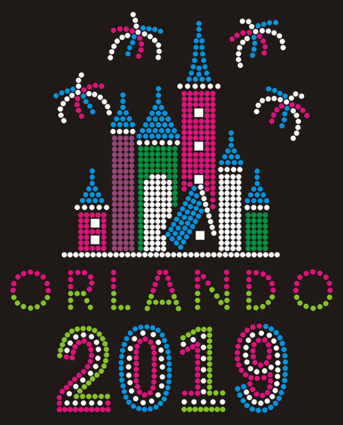 Castle & Fireworks - Orlando - Year.