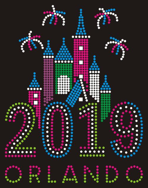 Castle & Fireworks - Year - Orlando.
