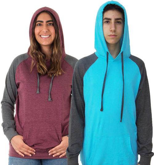 2-Tone Raglan Unisex Pullover Hoodie