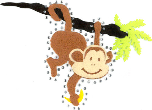 Monkey Hanging From Branch Iron-On (SMM-0652)