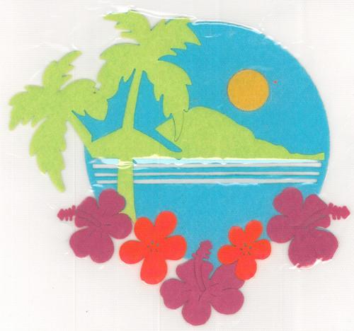 Beach Paradise Scene Iron-On (MM-0568)