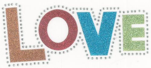 Glitter Love Iron-On (MM-0278)