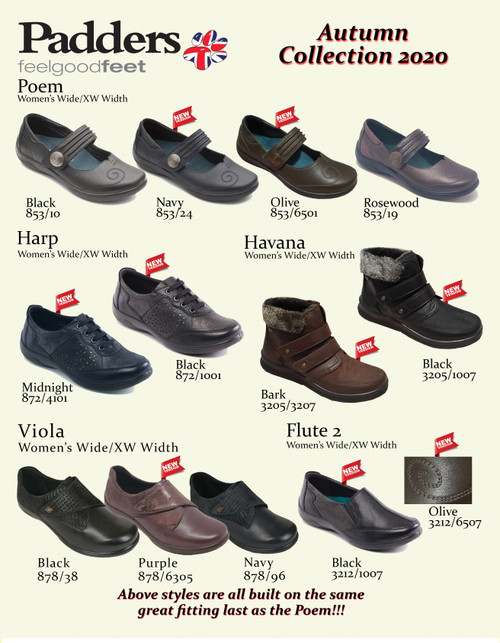Padders British Comfort Footwear Fall Collection