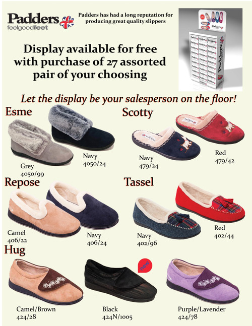 Padders British Comfort SlipperCollection