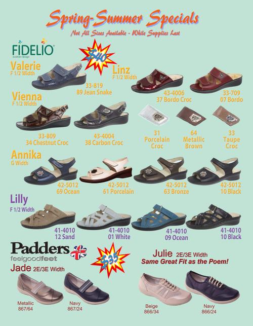 Spring / Summer 2021 Sandal Specials