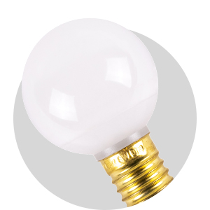 Warm White Frosted Opaque Non-Dimmable G40 LED Retrofit Bulbs - C9 Base