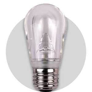 S14 LED Bulb - Cool White - E26 Base - GLASS