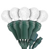 "Pure White G12 ""Raspberry"" LED Lights - Commercial Grade - 25 Light Count - Green Wire"