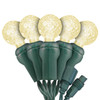 "Warm White G12 ""Raspberry"" LED Lights - Commercial Grade - 25 Light Count - Green Wire"