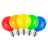 SMD G50 LED Replacement / Retrofit Bulbs (dimmable)- 5-Multi Color Pack of 25