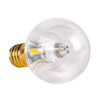 Warm White Clear Smooth SMD G40 LED Replacement Bulbs - C9 Base