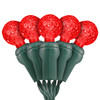 """Red & Pure White G12 """"Raspberry"""" LED Lights - Premium Grade - 70 Light Count - Green Wire"""
