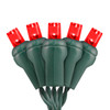 Red 5mm LED Light - Conical - Premium Grade - 70 Light Count - Green Wire
