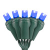 Blue 5mm LED Light - Conical - Premium Grade - 50 Light Count - Green Wire