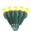 """Gold 5MM LED """"Twinkle Lights"""" - Premium Grade - 50 Light Count - Green Wire"""