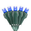 """Blue 5MM LED """"Twinkle Lights"""" - Premium Grade - 50 Light Count - Green Wire"""