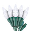 "Pure White C6 ""Strawberry"" LED Lights - Commercial Grade - 25 Light Count - Green Wire"