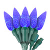 "Blue C6 ""Strawberry"" LED Lights - Commercial Grade - 25 Light Count - Green Wire"