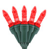"Red M5 ""Mini Ice"" LED Lights - Premium Grade - 70 Light Count - Green Wire"