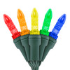 "5-Multi Color M5 ""Mini Ice"" LED Lights - Premium Grade - 70 Light Count - Green Wire"