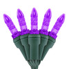 "Purple M5 ""Mini Ice"" LED Lights - Premium Grade - 70 Light Count - Green Wire"