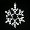 """Cool White 12"""" LED Rope Light Snowflakes"""
