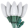 """Pure White C9 """"Strawberry"""" LED Lights - Commercial Grade - 25 Light Count"""