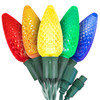 """5-Multi Color C9 """"Strawberry"""" LED Lights - Commercial Grade - 25 Light Count"""