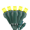 Gold 5mm LED Light - Conical - Commercial Grade - 25 Light Count - Green Wire