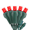 Red 5mm LED Light - Conical - Commercial Grade - 25 Light Count - Green Wire