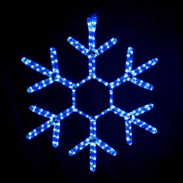 "Blue 48"" LED Rope Light Snowflakes"
