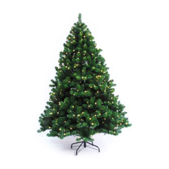 "Prelit LED Oregon Fir Tree - 7'5"" - 1,419 Tips & 750 5MM Warm White Light Count"