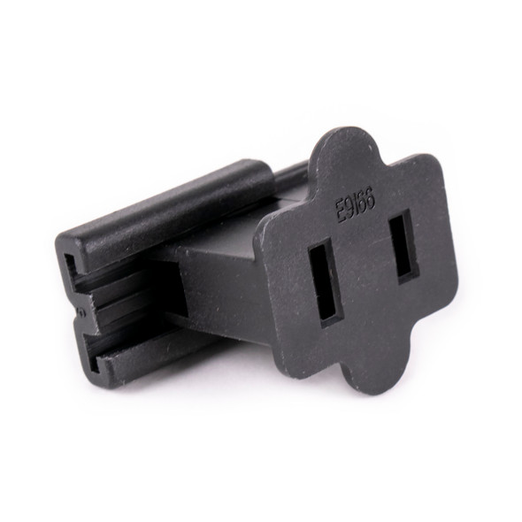UL Female Slide-On End Connector - Black