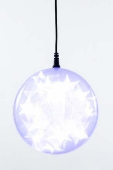 "6"" Cool White Holographic LED Sphere"