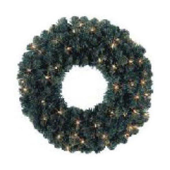 "LED 24"" Prelit Oregon Fir Wreath - 110 Tips & 35 5MM Warm White Light Count"