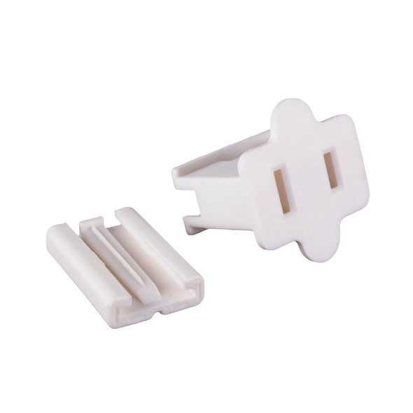 Female Slide-On Inline Plug - White