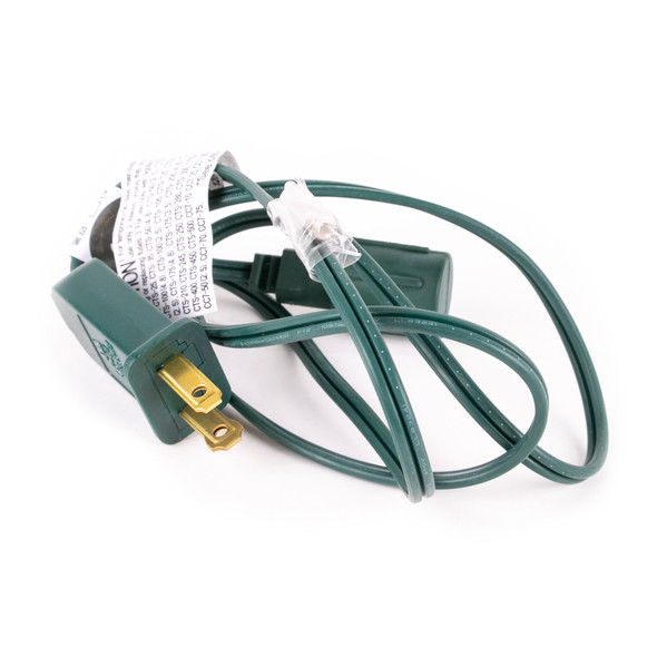 LED Adaptor-Power Cord for Commercial Light Strings - Green Wire