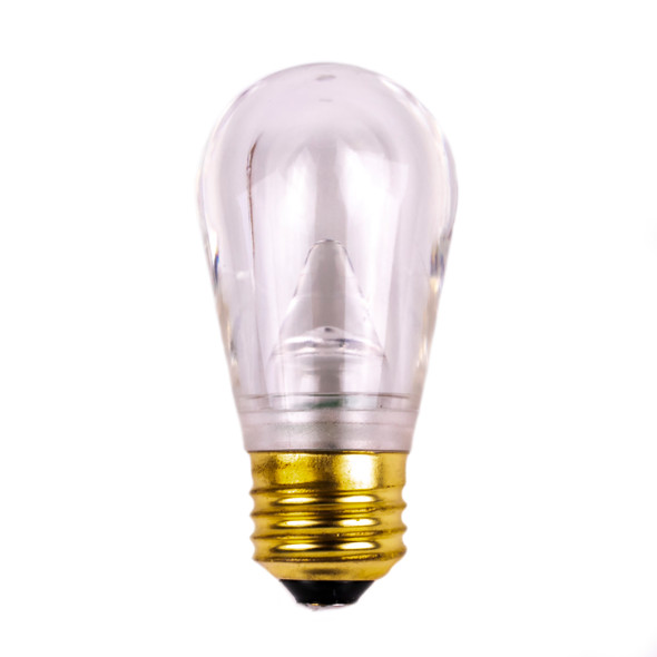 SMD Low Voltage S14 LED Bulb - Warm White - E26 Base - Smooth Plastic